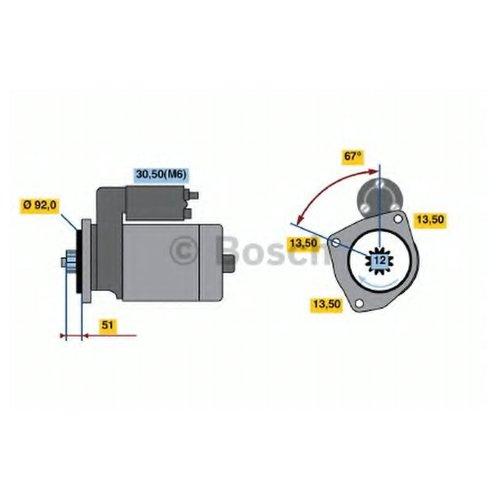 Bosch 0 986 022 250 Стартер