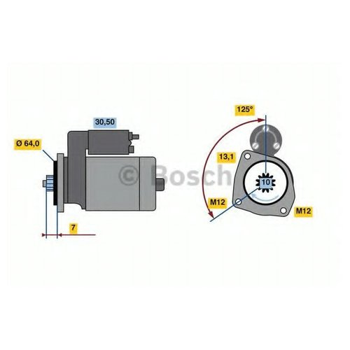 Bosch 0 986 022 770 Стартер