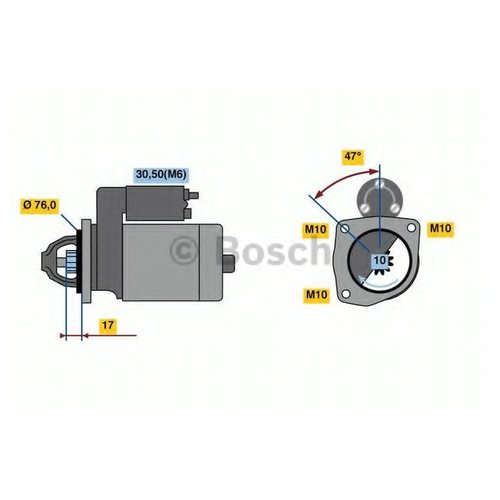 Bosch 0 986 022 840 Стартер