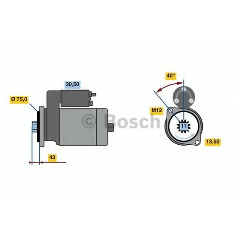 Bosch 0 986 022 950 Стартер
