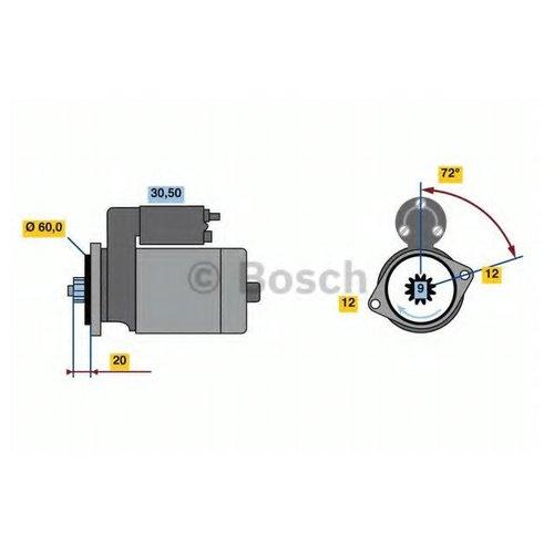 Bosch 0 986 023 420 Автозапчасть/Стартер 24V, 3.2KW