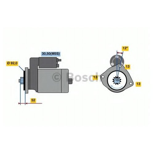 Bosch 0 986 023 430 Стартер