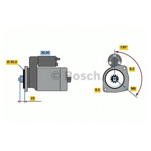 Bosch 0 986 023 490 Стартер