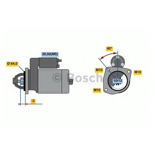 Bosch 0 986 023 500 Стартер