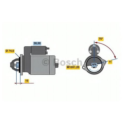 Bosch 0 986 023 550 Стартер