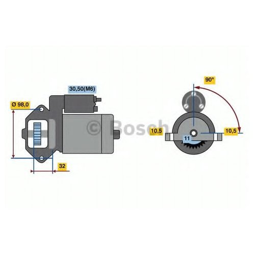 Bosch 0 986 023 570 Стартер
