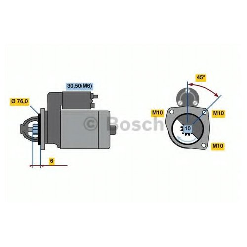 Bosch 0 986 023 620 Стартер