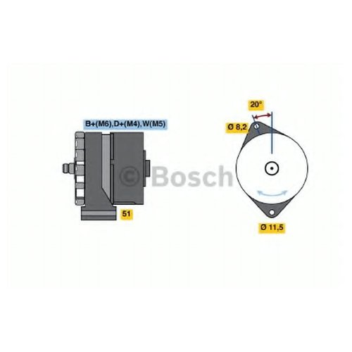 Bosch 0986032710 Генератор