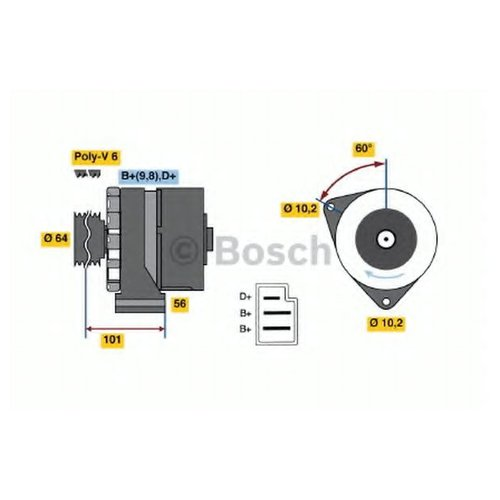 Bosch 0 986 033 720 Генератор