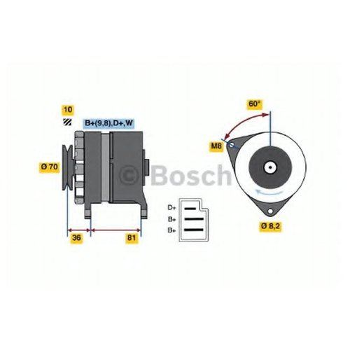 Bosch 0 986 036 010 Генератор