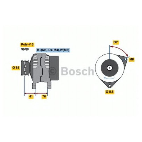 Bosch 0 986 036 701 Генератор