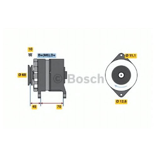 Bosch 0 986 036 750 Генератор