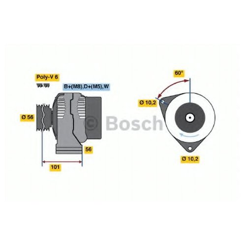 Bosch 0 986 036 820 Шкив генератора