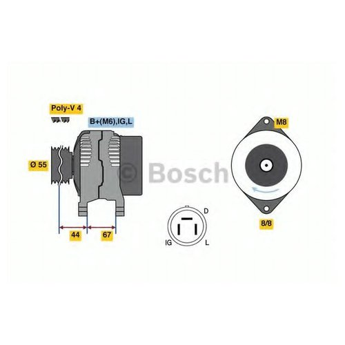 Bosch 0 986 037 561 Генератор