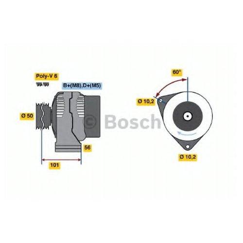 Bosch 0 986 037 990 Генератор