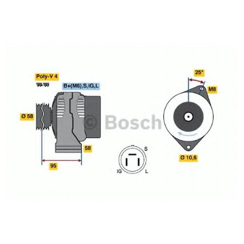 Bosch 0 986 038 011 Генератор