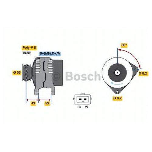 Bosch 0 986 038 070 Генератор