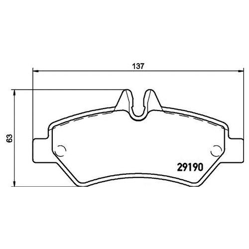 Hella 8DB 355 005-351 Комплект тормозных колодок
