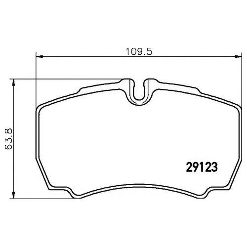 Hella 8DB 355 005-421 Комплект тормозных колодок