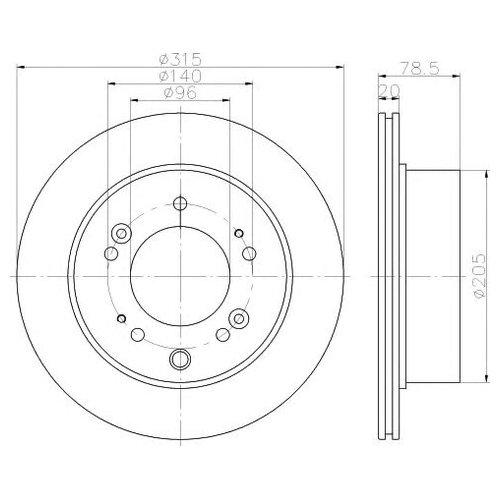 Hella 8DD 355 116-571 Тормозной диск