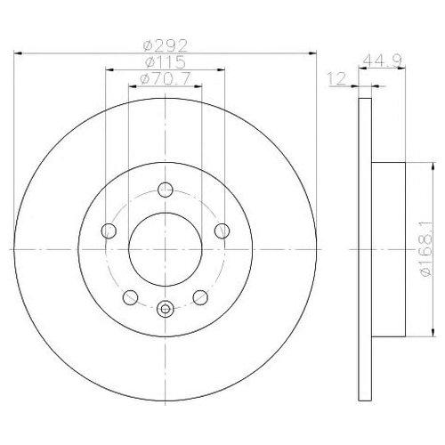 Hella 8DD 355 116-601 Тормозной диск
