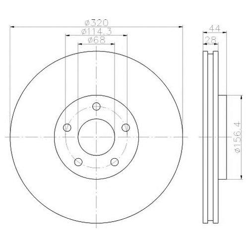 Hella 8DD 355 116-761 Тормозной диск
