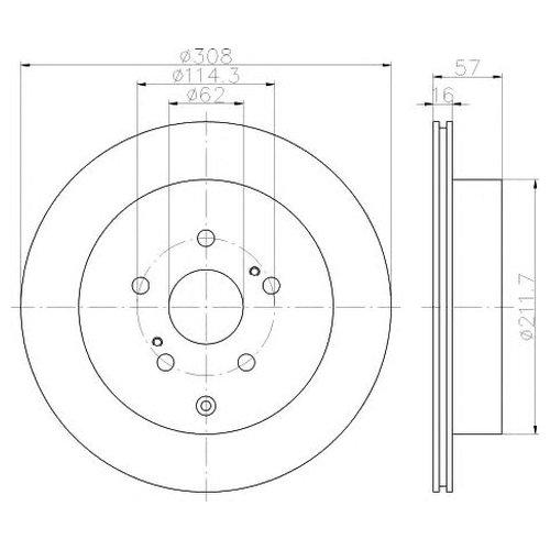 Hella 8DD 355 116-781 Тормозной диск