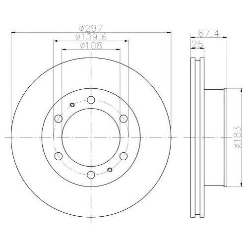 Hella 8DD 355 116-821 Тормозной диск