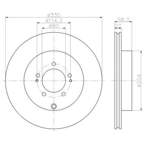Hella 8DD 355 116-881 Тормозной диск