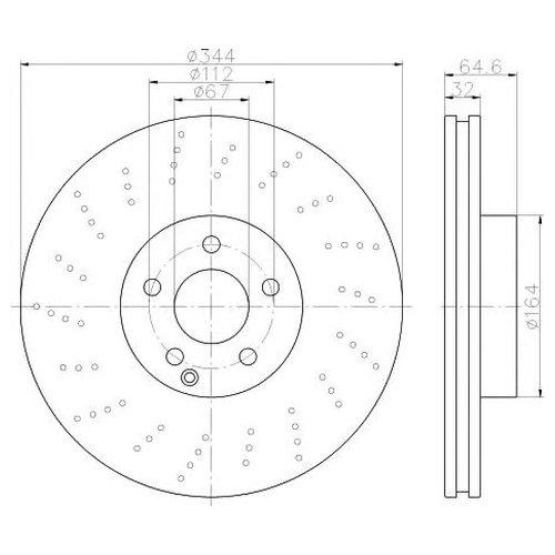 Hella 8DD 355 116-951 Тормозной диск