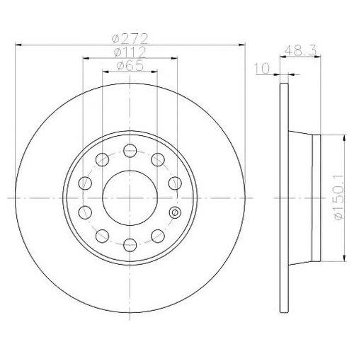 Hella 8DD 355 116-971 Тормозной диск