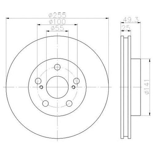 Hella 8DD 355 116-981 Тормозной диск