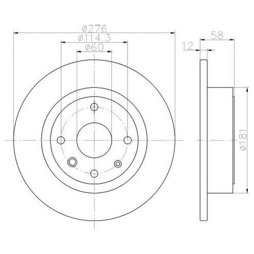 Hella 8DD 355 116-991 Тормозной диск