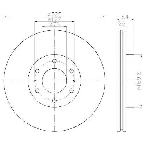 Hella 8DD 355 117-021 Тормозной диск