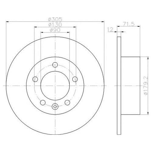Hella 8DD 355 117-131 Тормозной диск