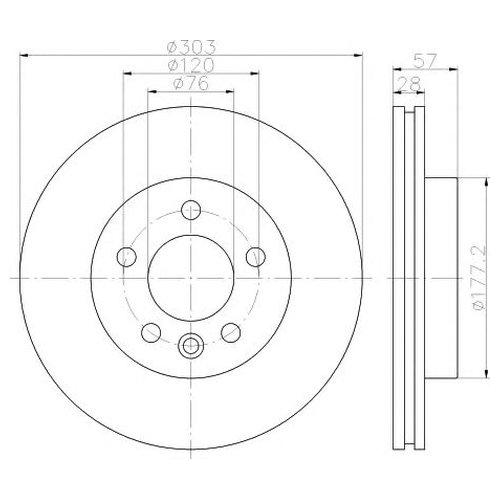 Hella 8DD 355 117-151 Тормозной диск