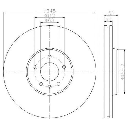 Hella 8DD 355 117-181 Тормозной диск