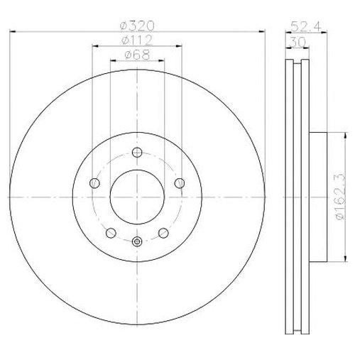 Hella 8DD 355 117-191 Тормозной диск
