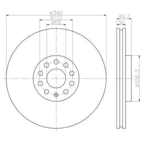 Hella 8DD 355 117-201 Тормозной диск