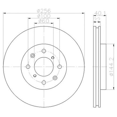 Hella 8DD 355 117-371 Диск тормозной Pro