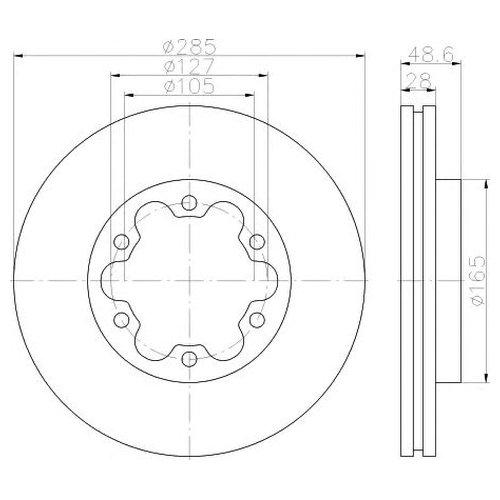 Hella 8DD 355 117-421 Тормозной диск