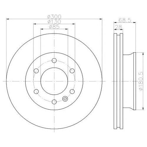 Hella 8DD 355 117-621 Тормозной диск