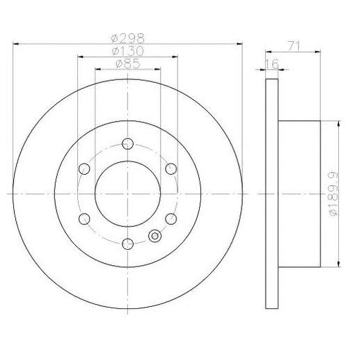 Hella 8DD 355 117-641 Тормозной диск