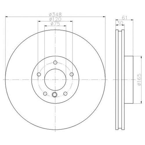 Hella 8DD 355 117-741 Тормозной диск