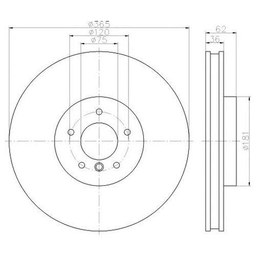 Hella 8DD 355 117-751 Тормозной диск