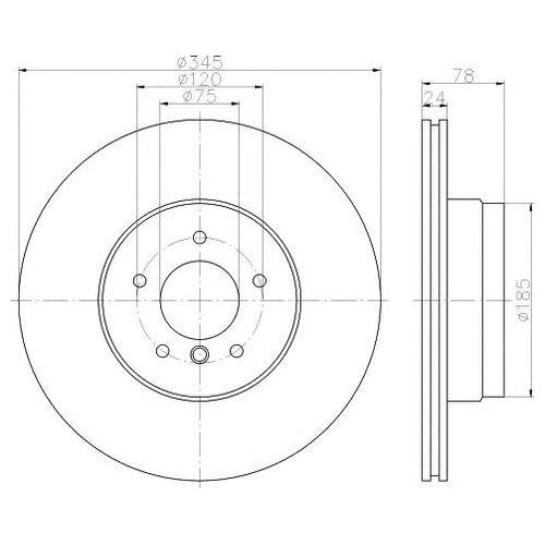 Hella 8DD 355 117-761 Тормозной диск