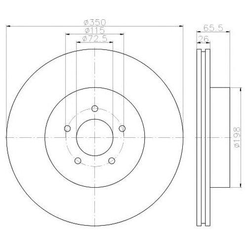 Hella 8DD 355 117-811 Тормозной диск