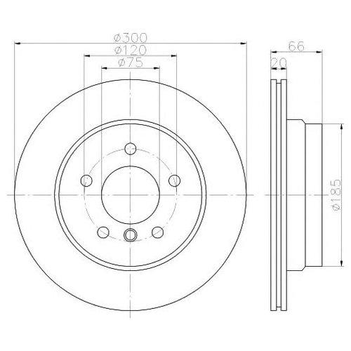 Hella 8DD 355 117-831 Диск тормозной Pro