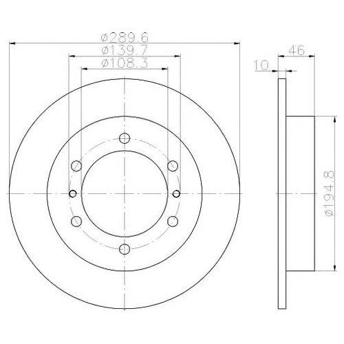 Hella 8DD 355 117-941 Тормозной диск