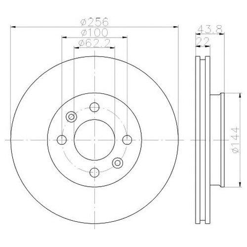 Hella 8DD 355 117-981 Тормозной диск
